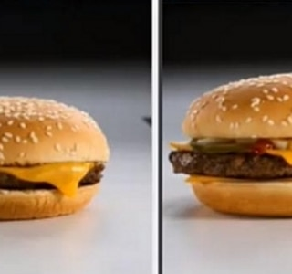 McDonald's assume: maquia lanche nas fotos