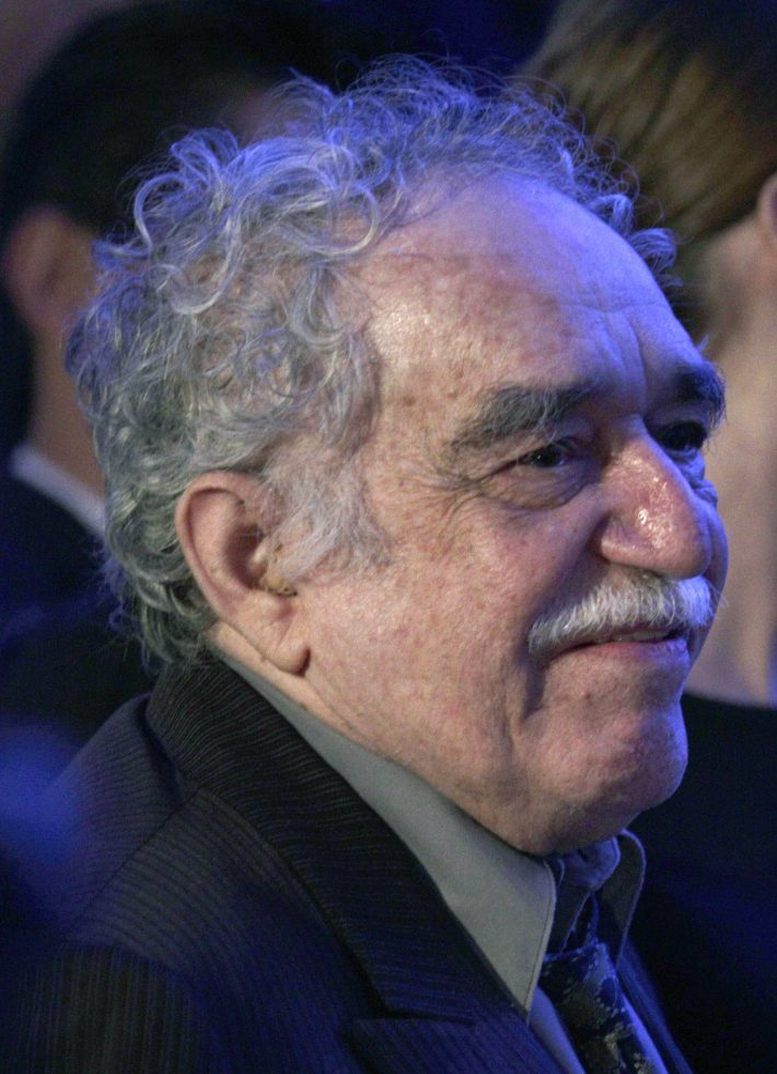 Colombian Nobel Prize-winning novelist Gabriel Garcia Marquez attends the opening of the Soumaya museum in Mexico City