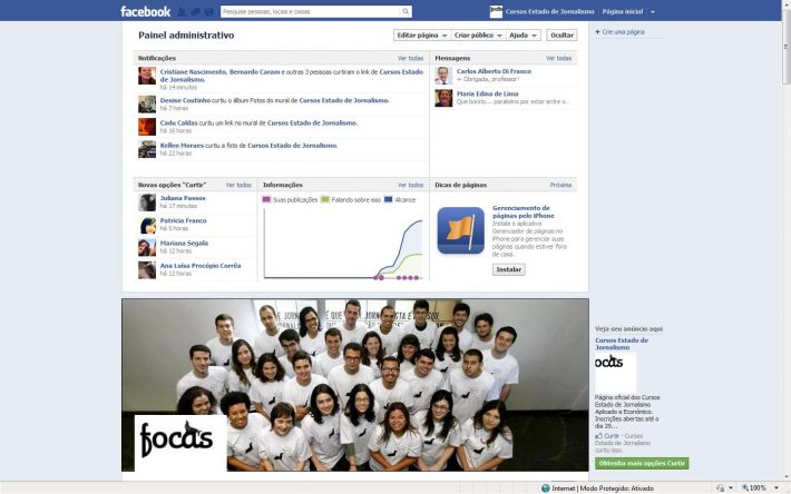 Os Focas no Facebook