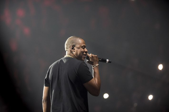 FILE ? Jay-Z performs at the Barclays Center in New York, May 20, 2016. Jay-Z?s 13th album, ?4:44,? is the rapper?s most personal record yet. He created a playlist of songs for inspiration, many of which were sampled on the album. (Chad Batka/The New York Times)